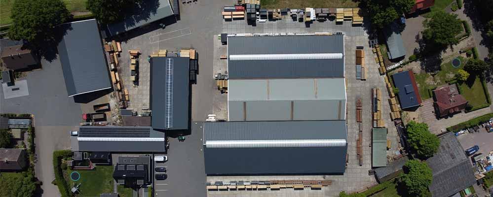 Houthandel Van der Leeden luchtfoto